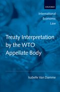 Cover for Treaty Interpretation by the WTO Appellate Body