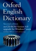 Cover for Oxford English Dictionary on CD ROM 4.0 Upgrade