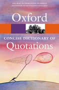 Cover for Concise Oxford Dictionary of Quotations