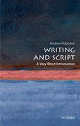 Cover for Writing and Script: A Very Short Introduction