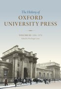 Cover for History of Oxford University Press Volume III