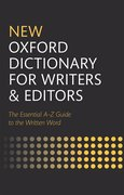 Cover for New Oxford Dictionary for Writers and Editors