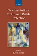 Cover for New Institutions for Human Rights Protection