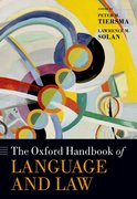 Cover for The Oxford Handbook of Language and Law