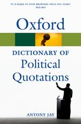 Cover for Oxford Dictionary of Political Quotations