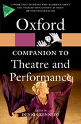 Cover for The Oxford Companion to Theatre and Performance