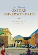 Cover for History of Oxford University Press: Volume IV
