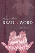 Cover for How to Read a Word