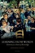 Cover for Learning from Words
