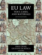 Cover for EU Law: Text, Cases, and Materials