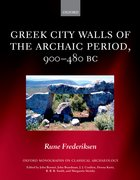 Cover for Greek City Walls of the Archaic Period, 900-480 BC