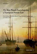 Cover for Max Planck Encyclopedia of European Private Law