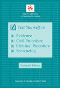 Cover for Test Yourself in Evidence, Civil Procedure, Criminal Procedure & Sentencing