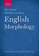 Cover for The Oxford Reference Guide to English Morphology