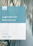 Cover for Legislation for Business Law 2009-2010