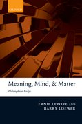 Cover for Meaning, Mind, and Matter