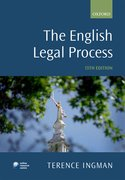 Cover for The English Legal Process