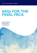 Cover for SAQs for the Final FRCA Examination