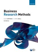 Bryman & Bell: Business Research Methods 3e