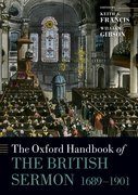 Cover for The Oxford Handbook of the British Sermon 1689-1901