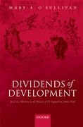 Cover for Dividends of Development - 9780199584444