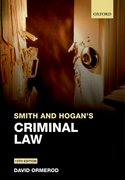 Cover for Smith and Hogan Criminal Law
