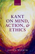 Cover for Kant on Mind, Action, and Ethics