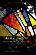 Cover for What is a Lollard?