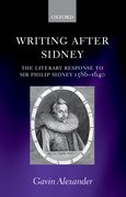 Cover for Writing after Sidney