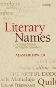 Cover for Literary Names