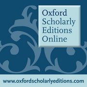 Cover for Oxford Scholarly Editions Online