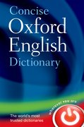 Cover for Concise Oxford English Dictionary
