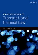 Cover for An Introduction to Transnational Criminal Law