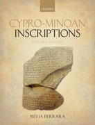 Cover for Cypro-Minoan Inscriptions