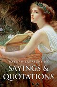 Cover for Oxford Treasury of Sayings and Quotations