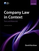 Kershaw: Company Law in Context: Text and Materials 2e