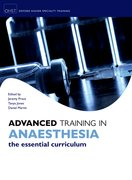 Cover for Advanced Training in Anaesthesia