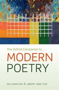 Cover for The Oxford Companion to Modern Poetry