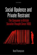 Cover for Social Opulence and Private Restraint