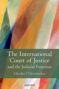 Cover for The International Court of Justice and the Judicial Function