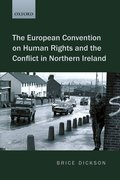 Cover for The European Convention on Human Rights and the Conflict in Northern Ireland