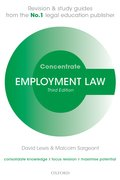 Lewis & Sargeant: Employment Law Concentrate 3e