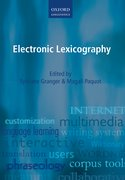 Cover for Electronic Lexicography