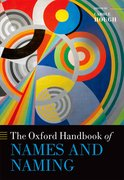 Cover for The Oxford Handbook of Names and Naming