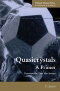 Cover for Quasicrystals