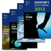 Blackstone's Police Manuals 2013: Four Volume Set