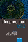 Cover for Intergenerational Justice