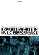 Cover for Expressiveness in music performance