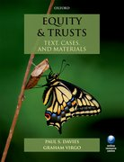 Davies & Virgo: Equity & Trusts: Text, Cases, and Materials