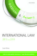 Cover for Q & A Revision Guide International Law 2013 and 2014